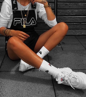 Fila, black and white and casual