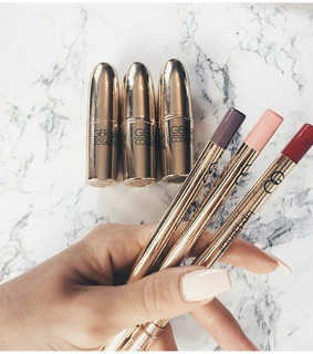 lipliners, white and make-up