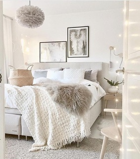 bedroom, home and interior