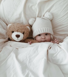 angel, teddy and baby