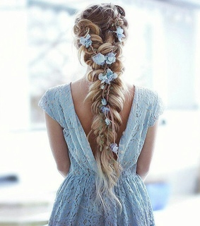 braided, hairstyle and girly