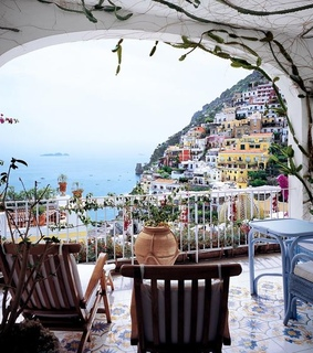 balcony, cinque terre and country