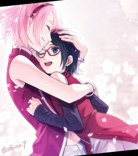 boruto, shippuden and sarada