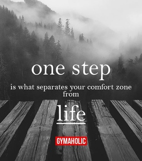 comfort zone, fitness and gymaholic