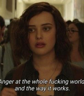 13 reasons why, angry and grunge