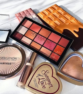 beauty, blush and cosmetics