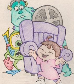 monsters inc, draw and fan art
