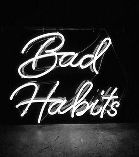 habits, sad and neonlights
