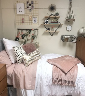 bed, clock and cute