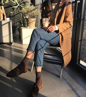 aesthetic, brown and coat