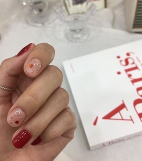aesthetic, nail and red
