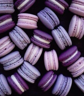 purple, macaroons and macaroon