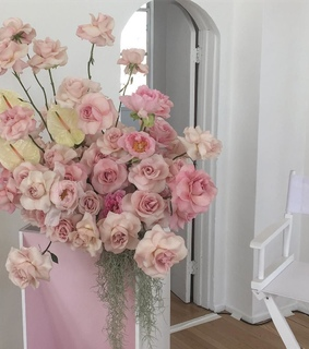aesthetic pastel, pink and aesthetic flowers