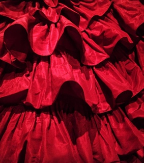 fabric, red and ruffles