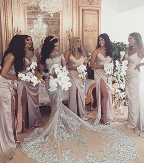 bride, dresses and girls