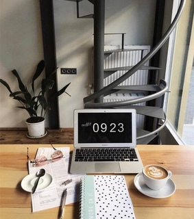 working desk, books and table