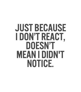 say, notice and react