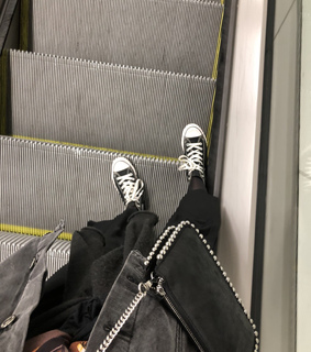 converse, black and legs