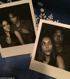 Nina Dobrev, damon and delena