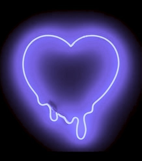 glow, heart lights and neon signs