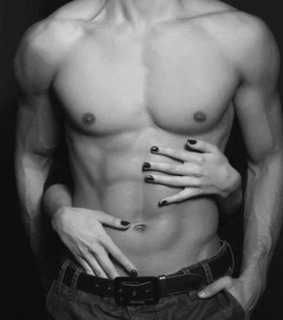 Hot, abs and black and white