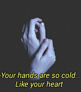 cold, hands and heart