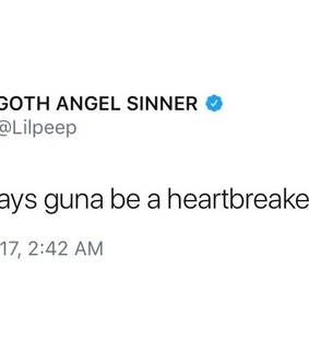 feeling, heartbreaker and lil peep