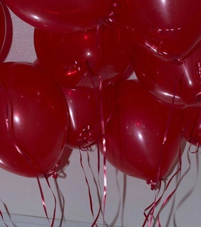balloons, red and aesthetic