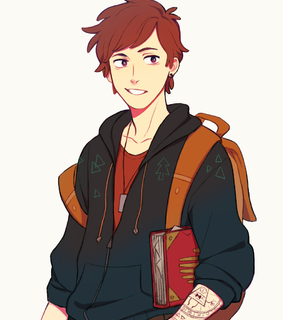 anime version, art and dipper pines