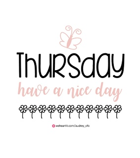 thursday, whi and thoughts