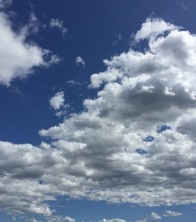 sky, cloud and white