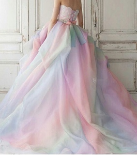 beauty, wedding and dress