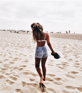 beach, follow me and sand