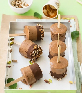 chocolate, ice cream and popsicles