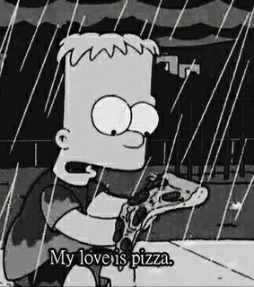 bart, the simpsons and pizza