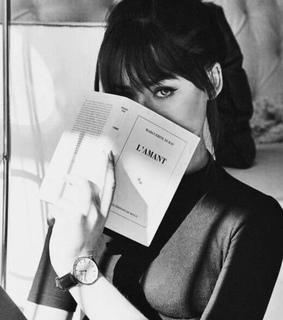 black, book and french