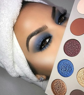 beauty, blue and glam