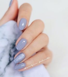 beauty, blue nails and glam