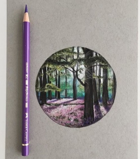 art, drawing and forest