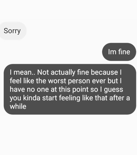 sad, fine and broken