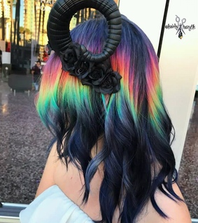 diy, hairstyle and rainbow