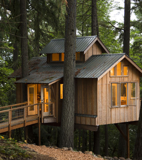 architecture, cabin and camping