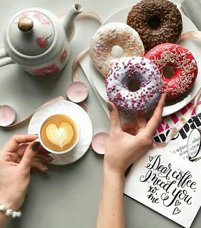 coffee, donuts and friday