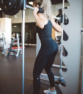 blonde, fitness and girls
