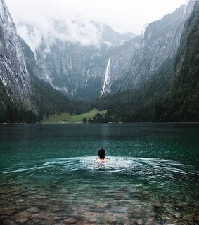 mountains, elements and obersee