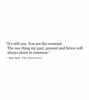 present, constant and you