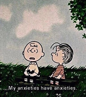 Lucy, anxiety and cartoons+quotes