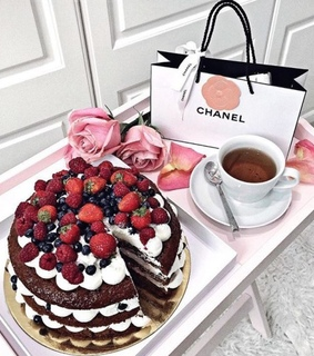 chanel, chocolate and pink