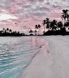 beach, pink and relax