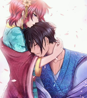 red hair, couple and dragon